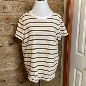 Madewell short sleeve T-shirt, striped XL